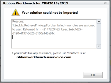 "Business Rules & ""SecLib::RetrievePrivilegeForUser failed - no roles are assigned to user"""