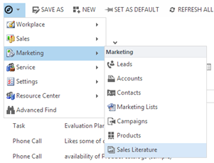 'Start Menu' style navigation for CRM2013