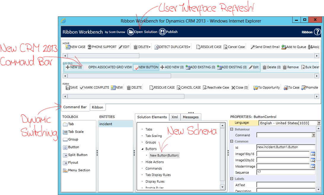 Ribbon 'XML' Workbench for Dynamics CRM 2013 with a silent 'XML'!