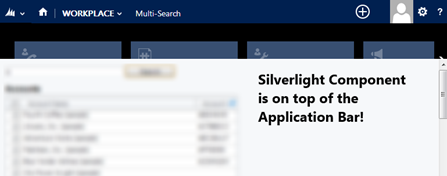 How to fix CRM2013 Application Bar hidden by Silverlight Web Resource