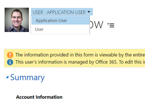 Dynamics 365 Application User